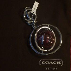 COACH SATURN BAG CHARM / KEYCHAIN (NWT)